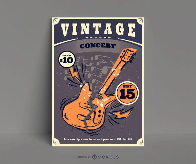 Vintage Rock Concert Poster Design