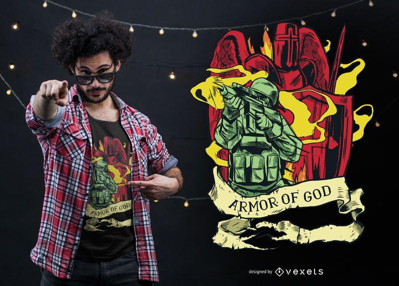 Armor of god t-shirt design