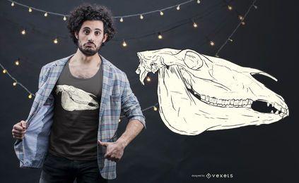 Diseño de camiseta de cráneo de burro