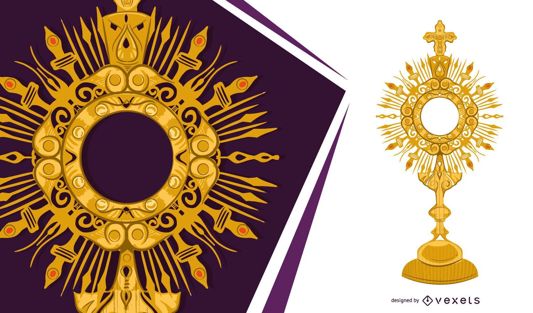 Golden Monstrance Objektdesign