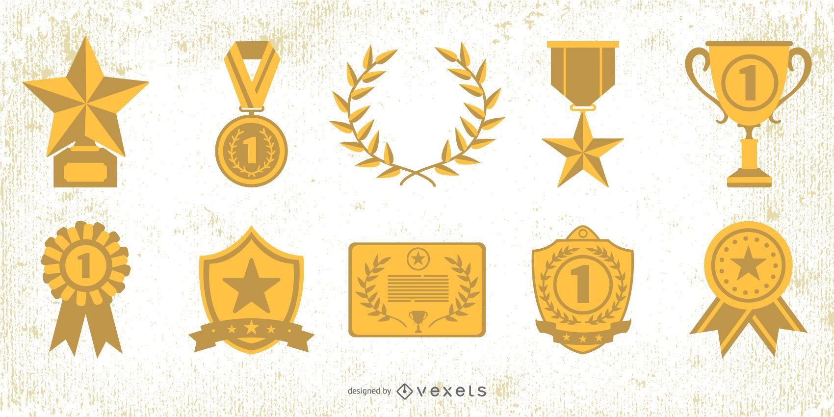 Golden Medal Awards Elements Pack