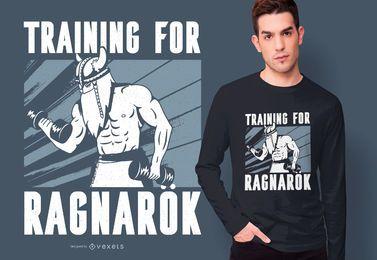Design de t-shirt de citação de Viking