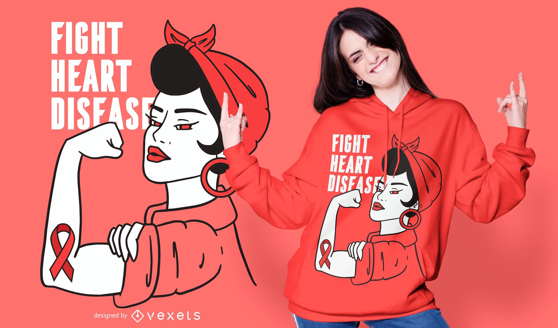 Kampf Herzkrankheit T-Shirt Design