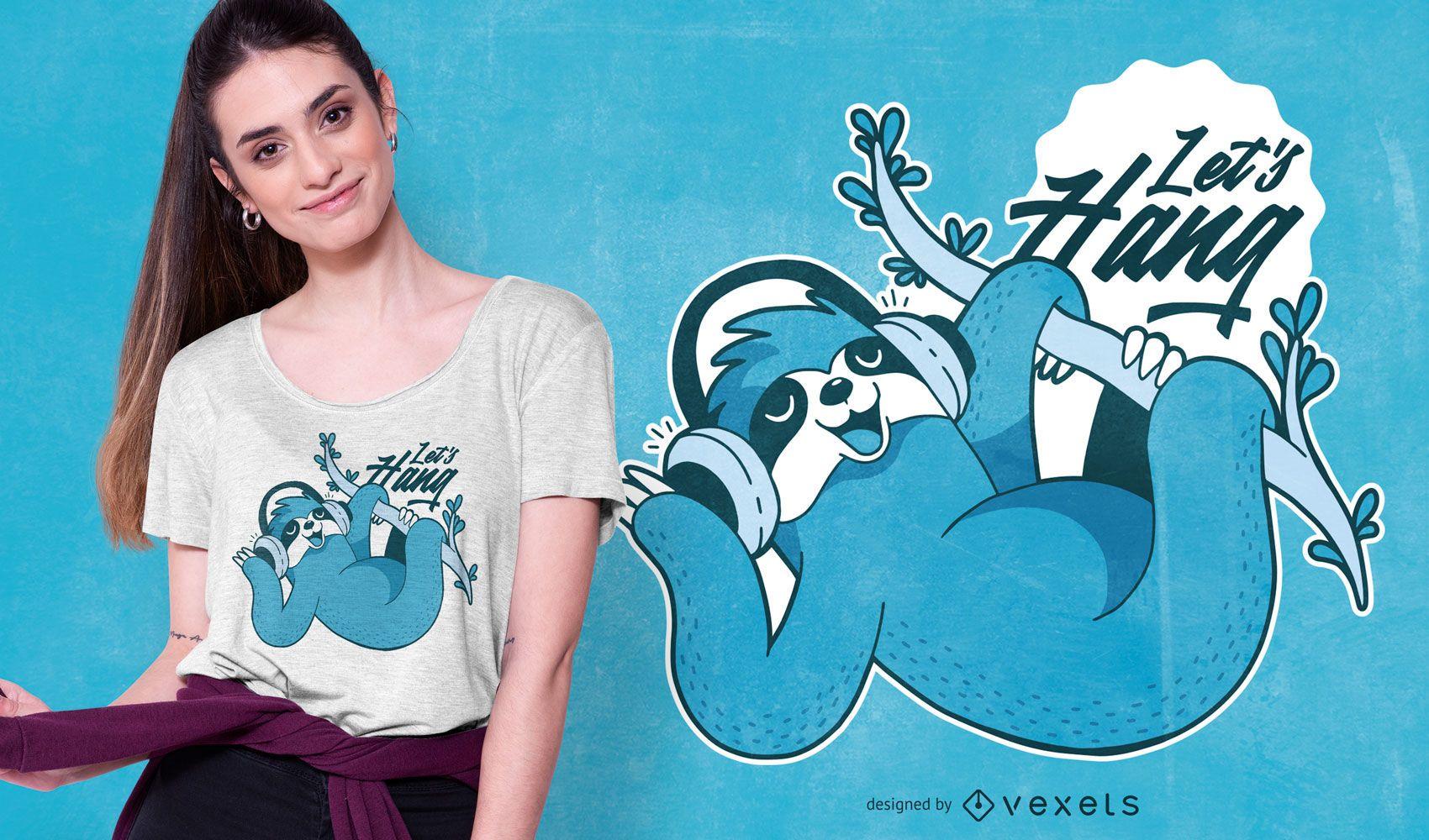 Diseño de camiseta de música perezosa.