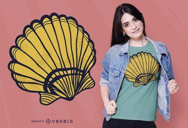 Design de t-shirt de concha