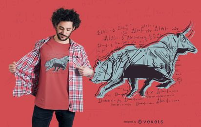 Design de t-shirt do mercado de ações