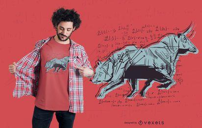 Diseño de camiseta del mercado de valores