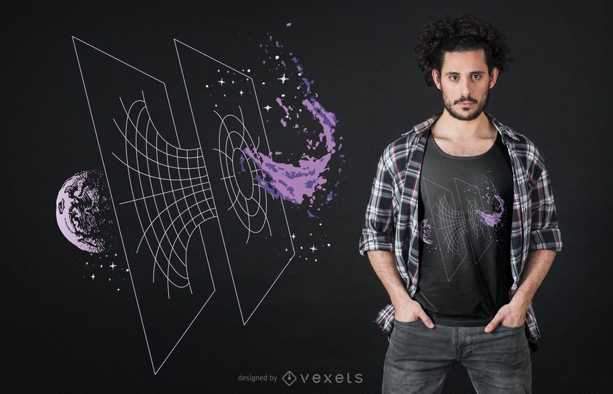 Wormhole t-shirt design