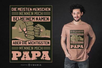 Projeto alemão do t-shirt das citações do pai
