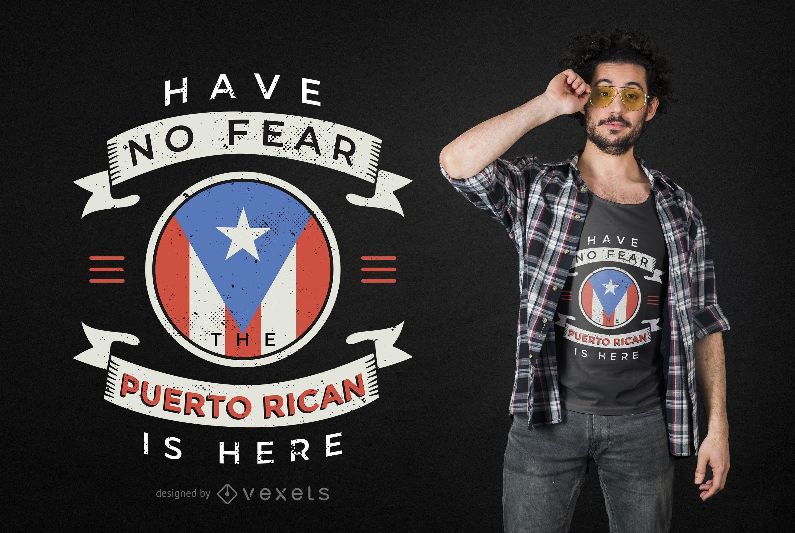 Dise?o de camiseta con cita puertorrique?a