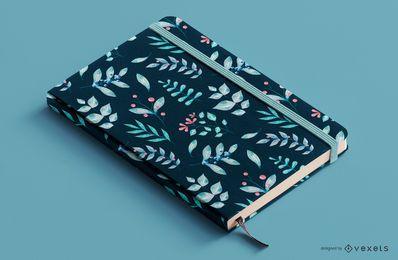 Design floral da capa do livro com plantas