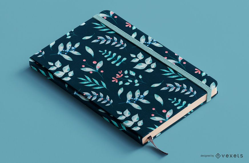 Design de capa de livro floral de plantas