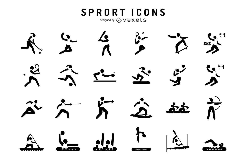 Conjunto de iconos de deportes olímpicos