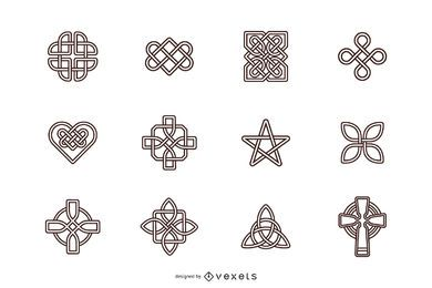 Celtic Knots Stroke Symbol Set