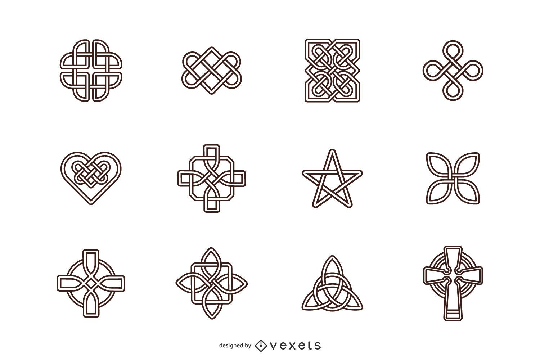 Celtic Knots Stroke Symbol Set