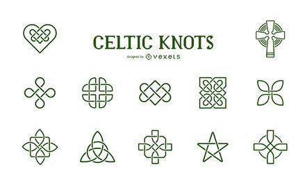 Colección de símbolos de nudos celtas