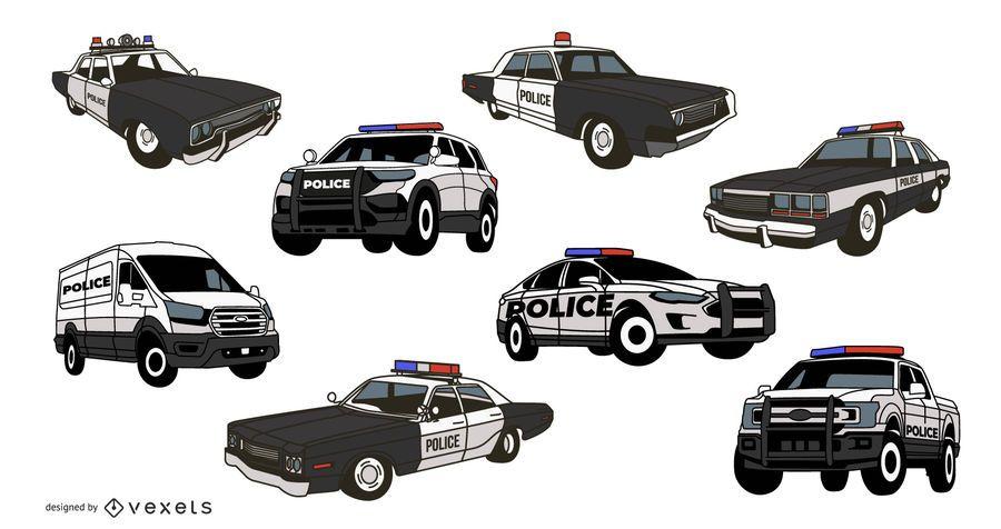 Police Car Illustration Pack