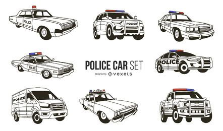 White Police Car Design Pack