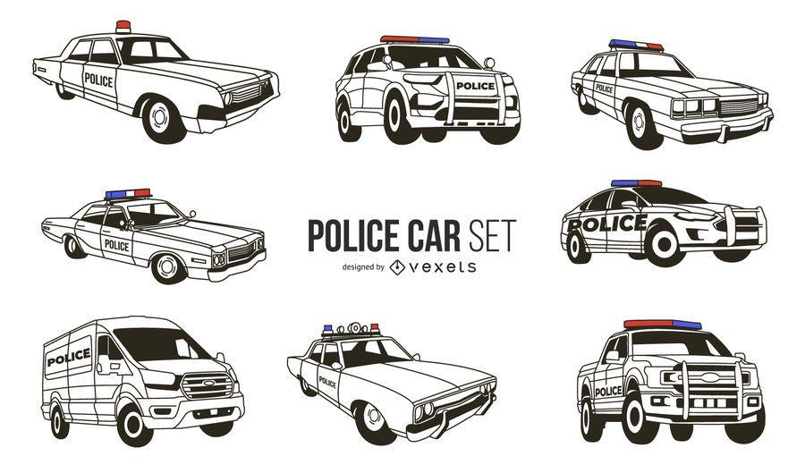 White Police Car Design Pack