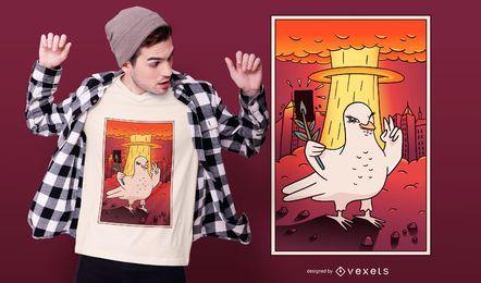 Projeto atômico do t-shirt da pomba