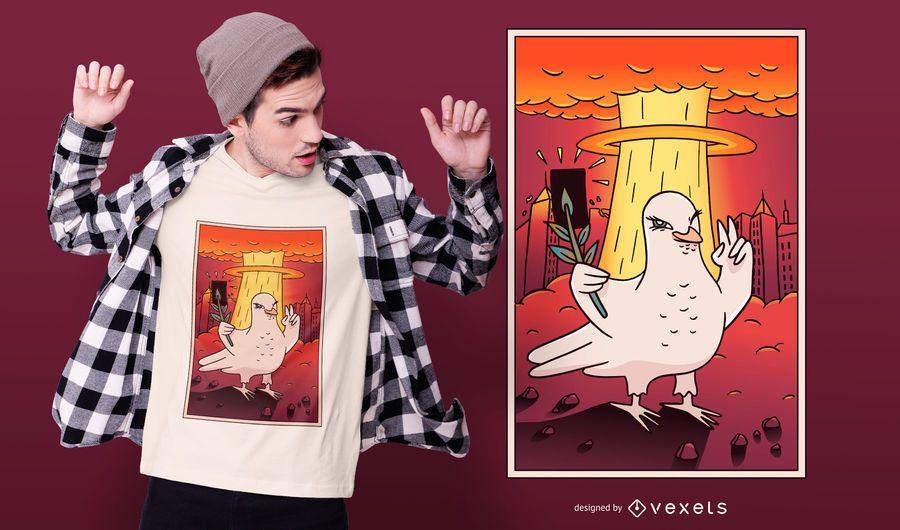 Atomic Dove T-shirt Design