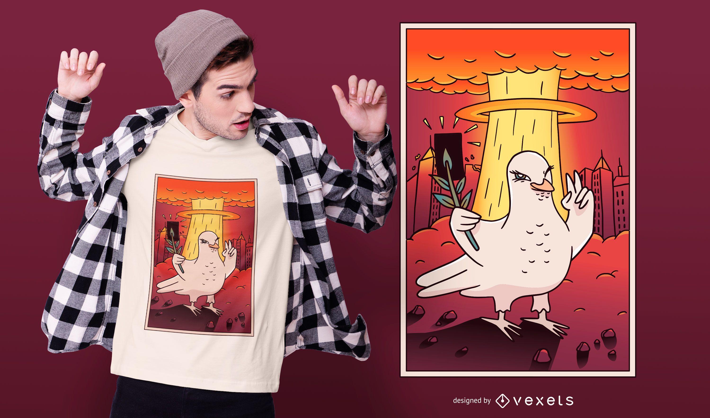 Design de camisetas Atomic Dove