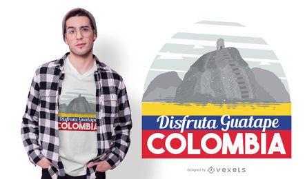 Desfrute de design de t-shirt da colômbia