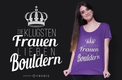 Design de t-shirt Bouldering