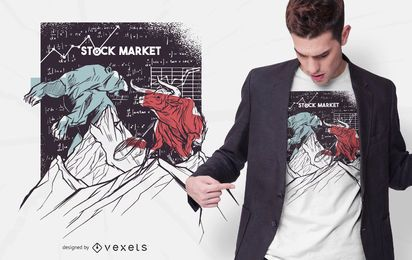 Stock Market Bear Bull t-shirt design