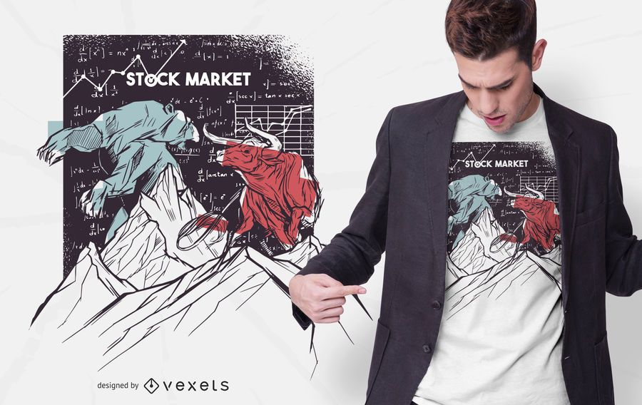 Stock Market Bear Bull t-shirt design