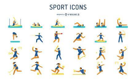 Paquete de iconos de pictogramas de juegos olímpicos