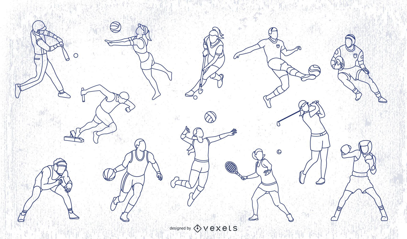 Olympic Sports Stroke People Pack