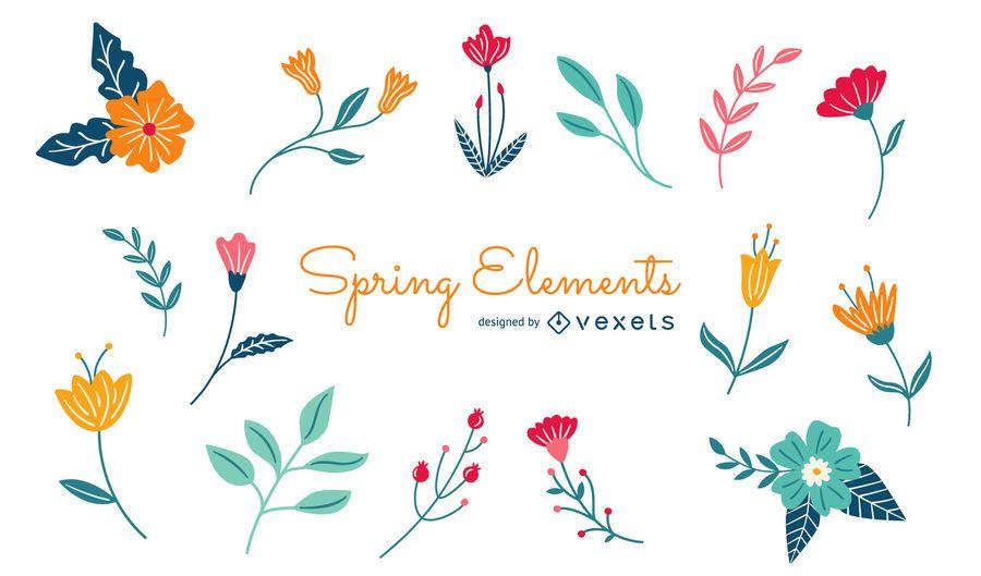 Spring Floral Elements Pack