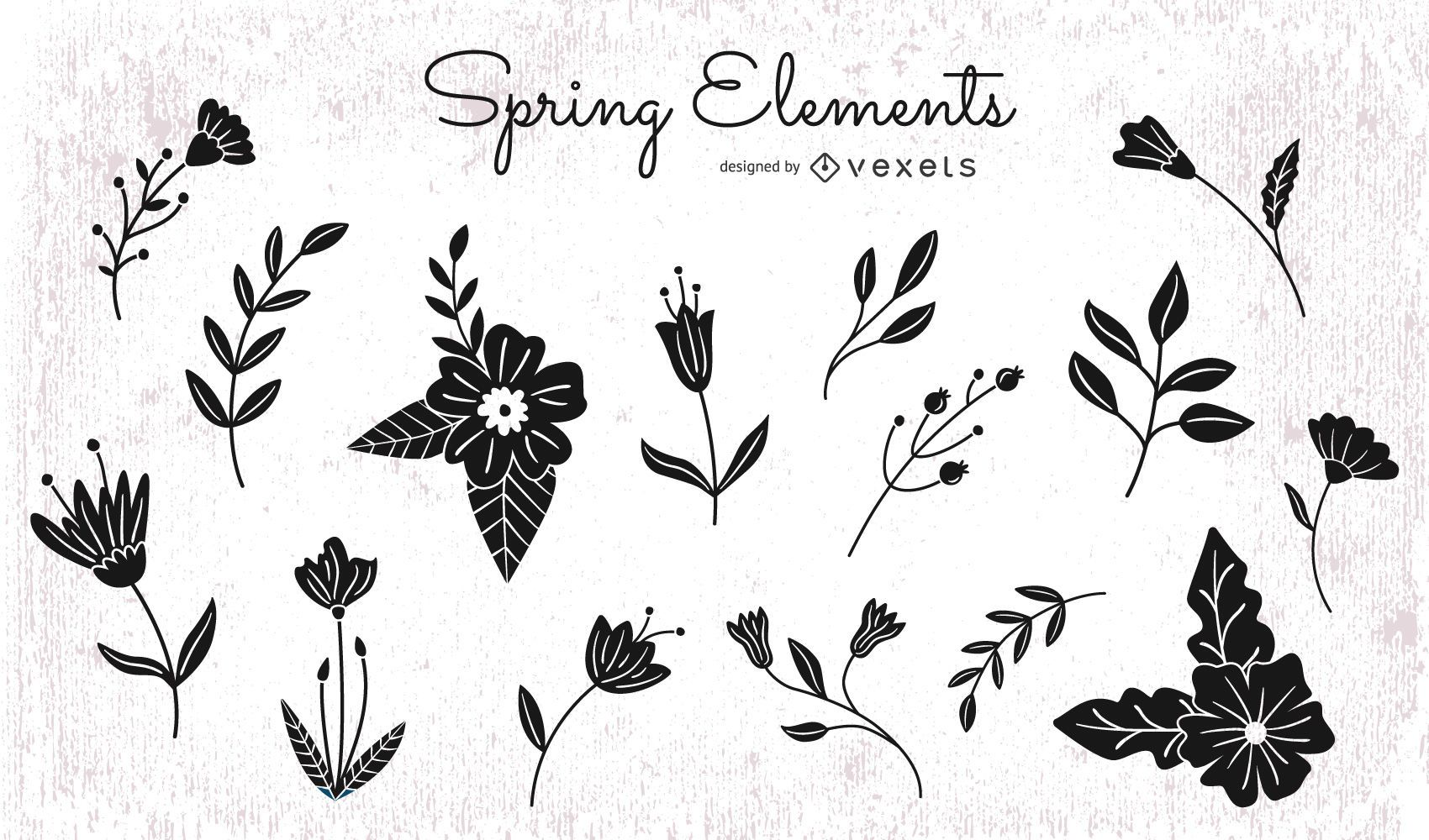 Floral Elements Silhouette Pack