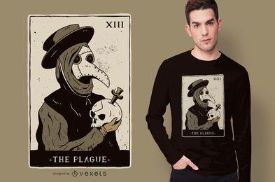 Diseño de camiseta de Tarot Doctor Plaga