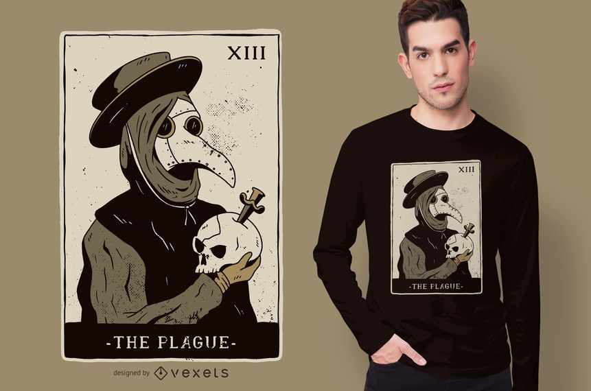 Plague Doctor Tarot T-shirt Design