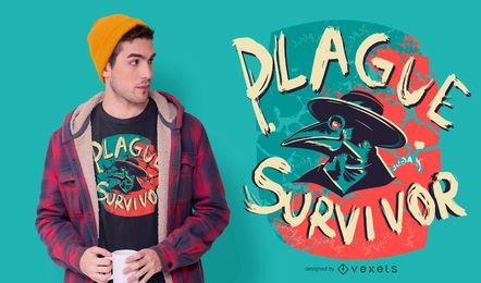 Projeto do t-shirt do sobrevivente da praga