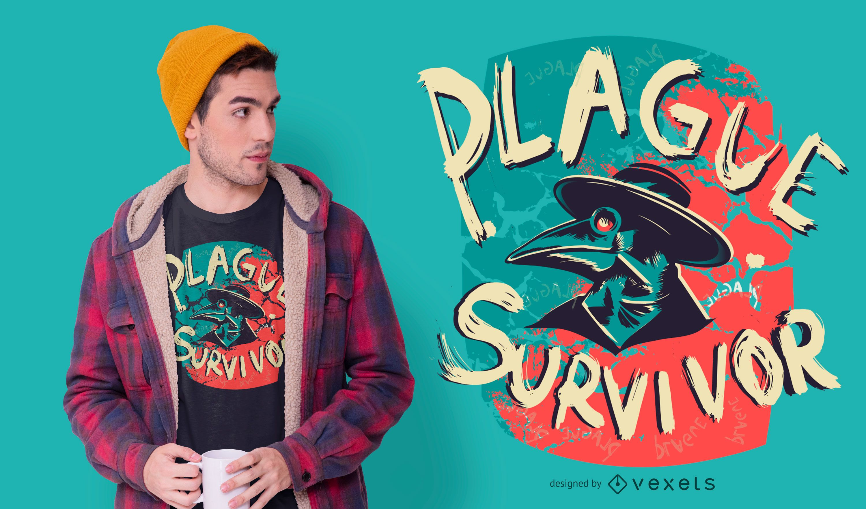 Design de camisetas do sobrevivente da praga