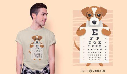 Diseño de camiseta de carta de ojo de perro