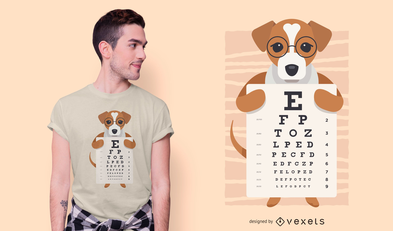 Dise?o de camiseta Dog Eye Chart