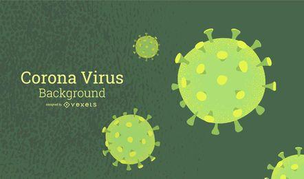 Diseño de fondo verde de coronavirus