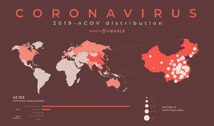 Coronavirus-Weltkarten-Design