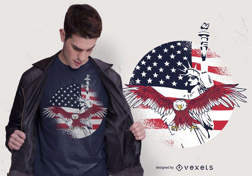 USA Freedom T-shirt Design