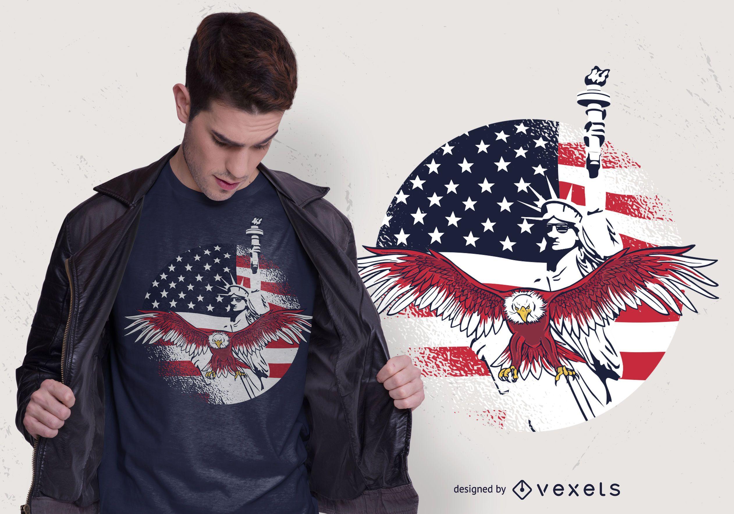 Design de camisetas USA Freedom