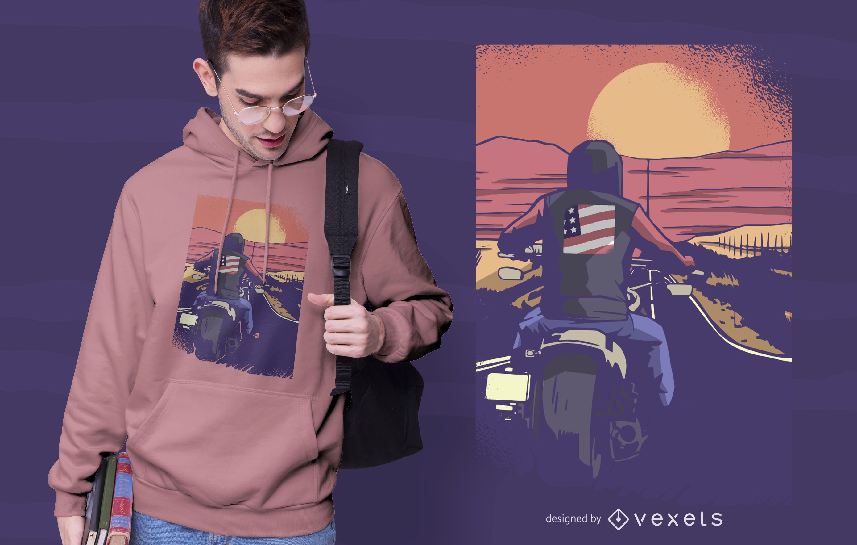 Diseño de camiseta Road Biker
