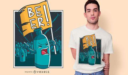 Diseño de camiseta de protesta de cerveza