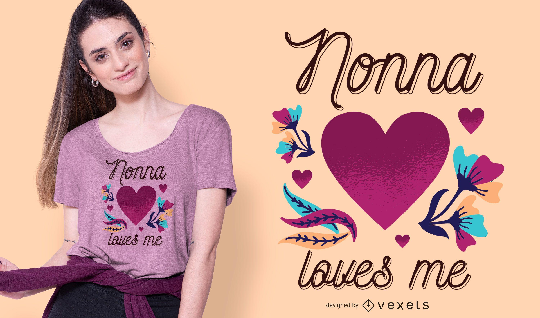 Diseño de camiseta Nonna Love