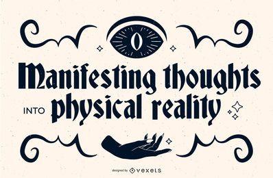 Okkultes Zitat-Banner-Design