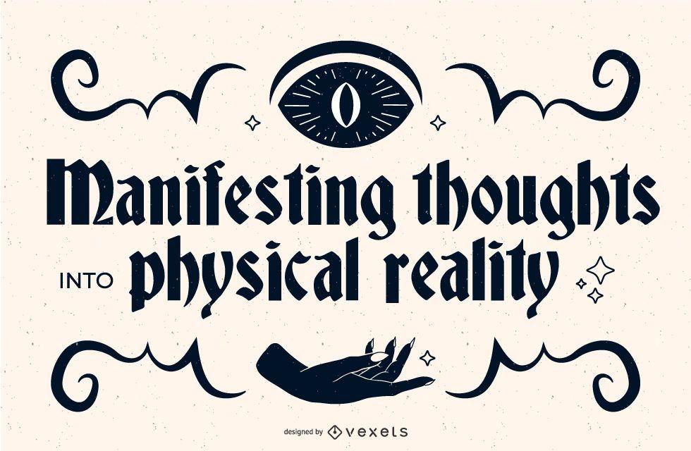 Occult Quote Banner Design