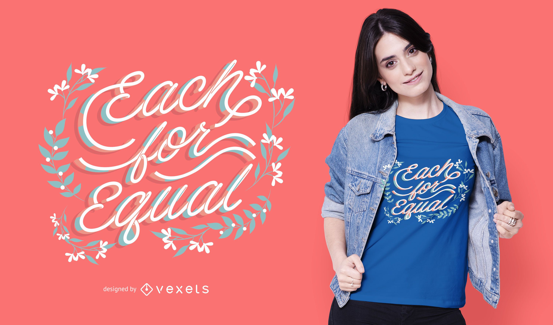 Each for equal t-shirt design